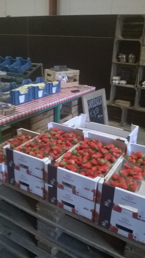 en aardbeien!